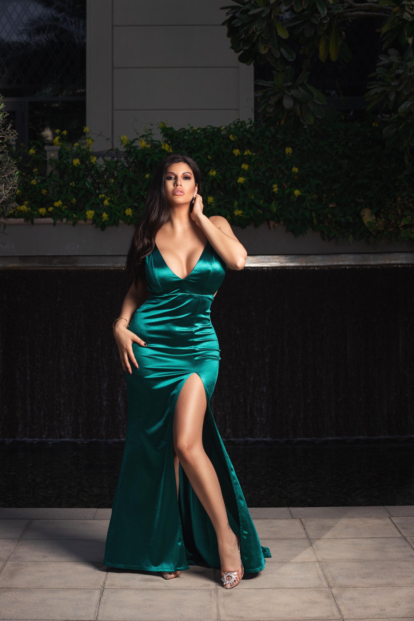 Dora Rodriguez wearing a Hi Maintenance dress
